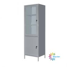 Шкаф медицинский с сейфом ШМ-1С (металлические стенки и полки)