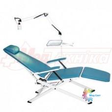 Портативне стоматологічне крісло Granum-109A з сумкою для транспортування (зі світильником і лотком для інструментарію)